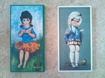 "2 Vintage Tavlor : ""BIG EYE GIRL""  AUDREY DALLAS SIMPSON + B.RAPHAEL"
