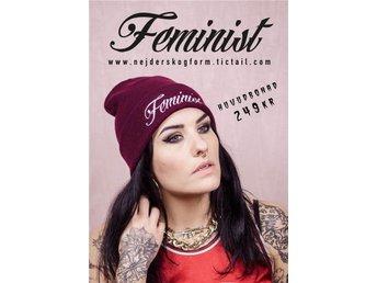 mössa beanie vinterkläder höstkläder feminist feminism burgundy street hiphop - Solna - mössa beanie vinterkläder höstkläder feminist feminism burgundy street hiphop - Solna