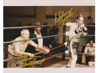 MILLION DOLLAR BABY CLINT EASTWOOD HILARY SWANK PRE-PRINT BOXING FOTO