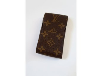 LOUIS VUITTON CIGARETTE CIGARETTETUI CASE MONOGRAM BRUN CANVAS LÄDER  VINTAGE