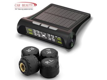 Smart Car TPMS Tyre Pressure Monitoring System Solar Power charging Digital LCD