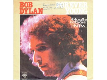"7"" Bob Dylan – Forever Young + 2 PS WG PR-Only Live Budokan"