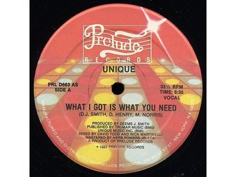 "Unique – What I got is what you need (Prelude 12"")"