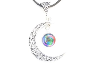 Färger måne halsband / Colours moon necklace