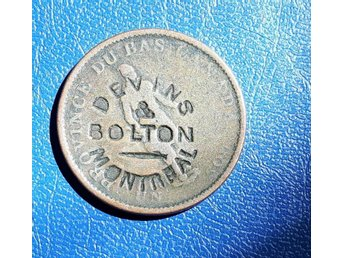 Canada Token Devins & Bolton Montreal  Counterstamped