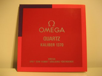 OMEGA Manual. Quartz Kaliber 1370. Svenska.