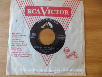 Elvis Presley: I want you, I need you, I love you + 1. Original!  RCA , USA 1956