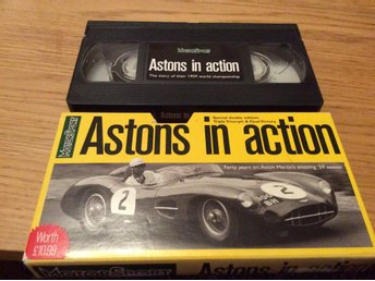 ASTONS IN ACTION VHS Aston Martin team MOTORSPORT