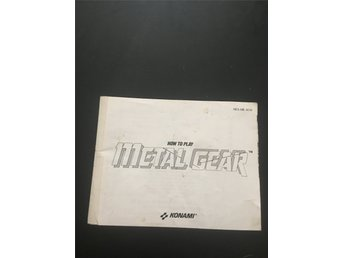 NES manual Metal Gear