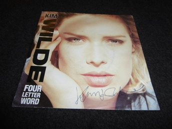 "Kim Wilde - Four letter word - 7"" - 1988 - Signerad"