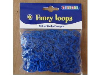 500 st Fancy Loops Gummiband, BLÅ