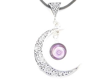 Spiral måne halsband / Spiral moon necklace