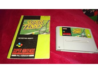 Super Tennis + Manual Nintendo SNES Svensksåld SCN