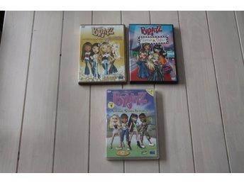 DVD-Filmer Bratz 3 st - Skånes-fagerhult - DVD-Filmer 3 stycken Bratz , skivorna är ok men repiga , fungerade sist vår tjej tittade på dem . Katt och hund i hemmet ! - Skånes-fagerhult