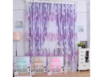 100x200cm Bird Nest Print Tulle Window Curtain Balcony Be...