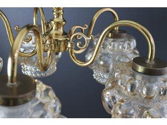 Äldre praktfull taklampa med vackra glaskupor - örebro - Äldre praktfull taklampa med vackra glaskupor - örebro