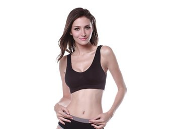 Kvinnor Ladies Sport Vest BH Toppar Underkläder Seamless Slim Casual Push Up BH-