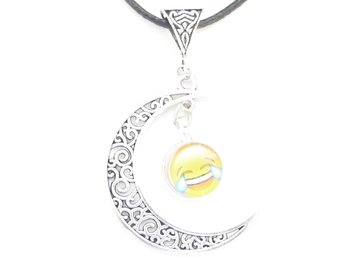 Emoji måne halsband / Emoji moon necklace