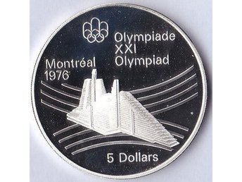 5dollars Olympic Village OS Montreal 1976 Kanada 1976 Ag 24,3g Proof 76 908ex.