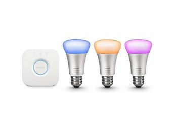 Philips Hue White and Color Ambiance Starter Kit E27 10W 3-pack (Dimbar) - östersund - Philips Hue White and Color Ambiance Starter Kit E27 10W 3-pack (Dimbar) - östersund