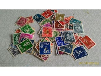 Used Norwegian stamps