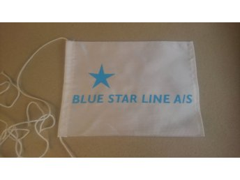 Rederi, bordsflagga, Blue Star Line