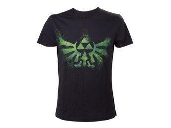 T-Shirt - Nintendo - Zelda - Green Triforce Logo - L