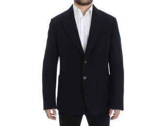 Dolce & Gabbana - Black wool stretch two button blazer