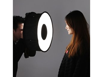 45cm Foldbar Ring Speedlite Flash Diffuser Makro Shoot Round Softbox