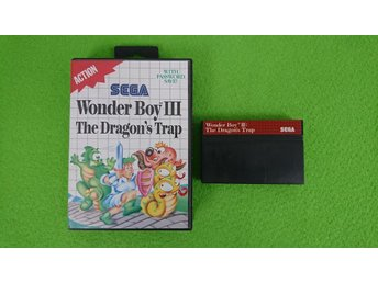Wonderboy 3 The Dragons Trap BOXAD Sega Master System 8-bit dragon's