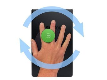 G-Hold Universal Velcro Ergonomic Handhold for Tablets (Low-profile) /Green