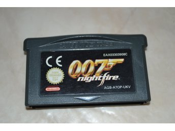 007 Nightfire James Bond Gameboy Advance Nintendo Kassett Fint Skick