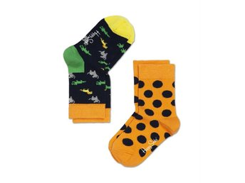 Happy Socks 2-pack barnstrumpor Big Dots (7-9 år)