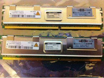 HP 4GB (2x2) Kit PC5300 FB-Dimm för tex Proliant DL360 DL380 G5