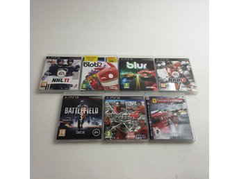 PlayStation 3, TV-spel, 7st, Skick: Normalt