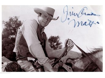 JAMES ARNESS (JIM) GUNSMOKE PRE-PRINTED AUTOGRAF FOTO