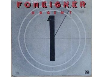 "Foreigner title* Urgent* Rock 7"" US"