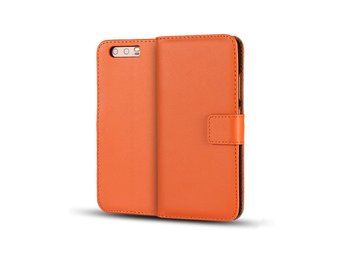 Huawei P10 genuine split leather flip case - Orange