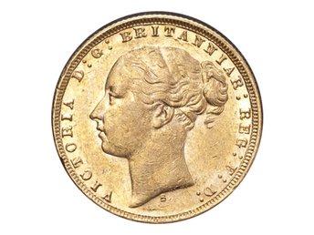 Australien Victoria Guldmynt 1876-S Sovereign St.George - London - AUSTRALIA. Victoria, 1837-1901. Gold Sovereign, 1876-S. Sydney. St.George. GVF.Diameter: 22.05 mm.Weight: 7.988 g.Composition: 916.66/1000 GoldThe Coin Cabinet drivs av Andeas Afeldt, företaget är baserat i London. Vi är medlemmar av BNTA (Bri - London