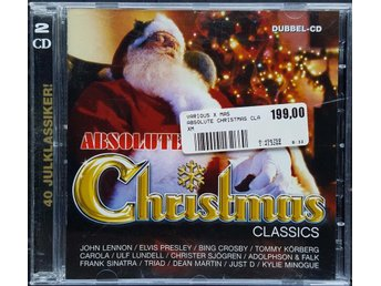 VARIOUS -  ABSOLUTE CHRISTMAS CLASSICS       DUBBEL-CD