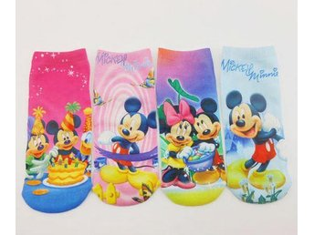 Disney Mckey & Minnie Mouse 4 par strumpor  Socks 18 cm.