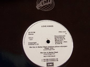 "LOVE KINGS - WE GOT A BETTER BEAT 12"" 1991 PROMO SWE"