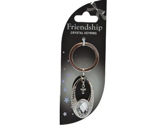 Nyckelring Kors - Crystal Friendship