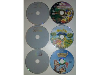 6st Disney Junior DVD - Nalle Puh, Små Einsteins, Piff & Puff etc.
