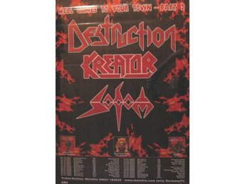 Kreator, Sodom and Destruction 2001-2002 tour poster 60x80cm