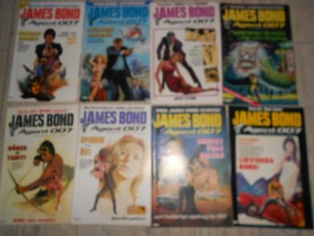 8 st JAMES BOND AGENT 007 NR 1,2,3,4,5,6,7 1985 samt NR 7 1983