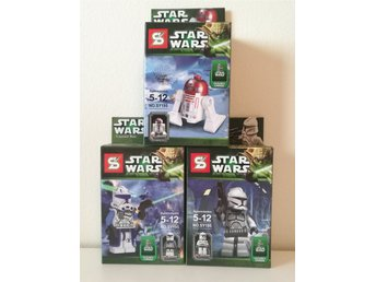 Nya!! 3 st Star Wars figurer - R4 P17, Cap. Rex, Clone Trooper