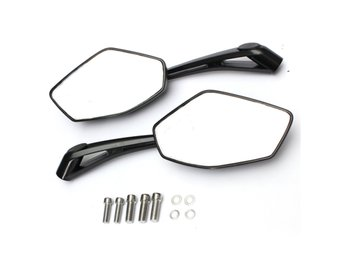 Universal Metal Motorcycle Rear View Side Mirrors Black 8...