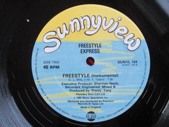 "12"" maxi: FREESTYLE EXPRESS (UK 1983) Electro"