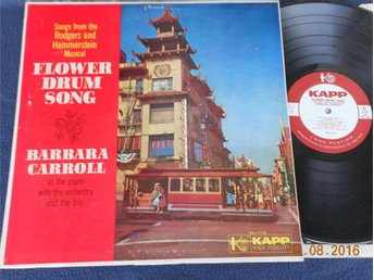 BARBARA CARROLL - Flower Drum Song, Rodgers/Hammerstein, US Orig Kapp LP 50-tal